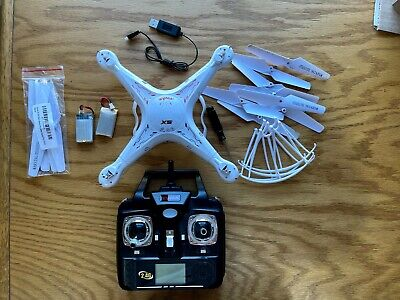 SYMA X5 2 RC Quadcopter Drone 3 batteries and 3 sets of propellers