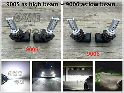 Bright Beam - 9005+9006 Combo LED Headlights Bulbs Kit High Low Beam Super Bright 6000K White