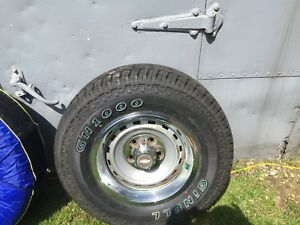 GMC rims and rubber