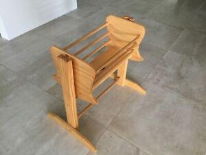 Wooden dolls rocker bassinet / bed x 2