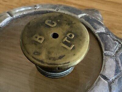 Antique Brass Oil Lamp Hinks Burner Filler Cap. B.C MARKED