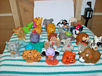 Fisher Price Little People A To Z Learning Zoo Alphabet Animals LOT OF 25 Pc