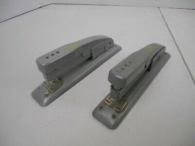 2 Vintage Swingline Staplers Desk Office Gray