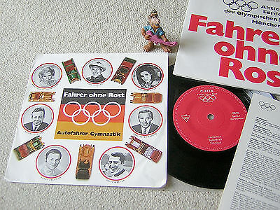 "FAHRER OHNE ROST Autofahrer-Gymnastik 1970 GER 7""EP + PS +BOOKLET +INSERT COTTA"