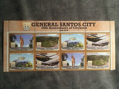 2018 PHILIPPINES GENERAL SANTOS CITY (2) BLOCKS OF 4 STAMPS MNH