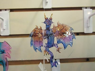Beautiful hand blown hanging Glass Dragon #4