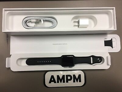 Apple Watch Series 3 42Mm Gray Aluminium Black Sport Band Gps Cellular Mqk22lla