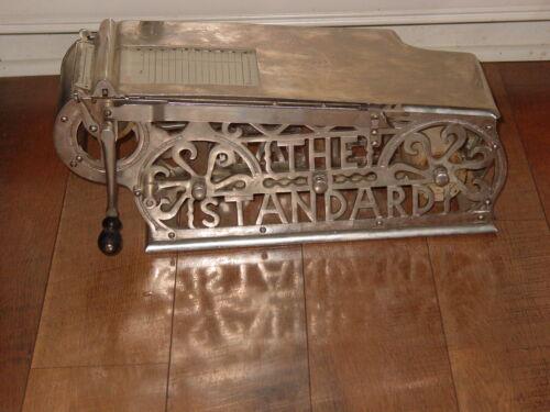 ANTIQUE 1920s Cast Iron The Standard CASH REGISTER RECEIPT MACHINE S12
