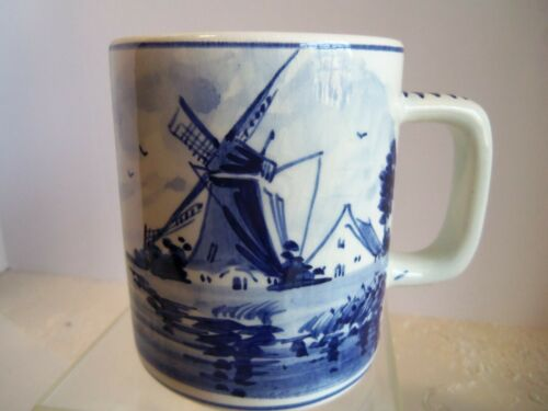 Delft  Cup Holland Windmill Vintage