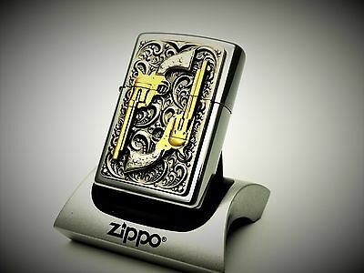 Zippo Lighter Limited Edition GOLDEN REVOLVERS 24k Gold dusted barrels pistol