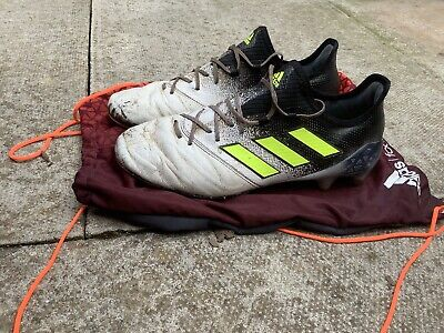 Adidas Ace 17.1 Mens Football Boots Uk 9.5 Leather Black White