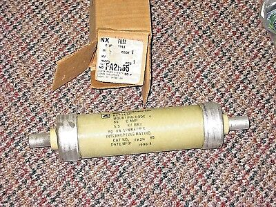 Cooper Fa2h65 Nx Clip-style Current-limiting Transformer Fuse 65a 5.5kv Nos Rph