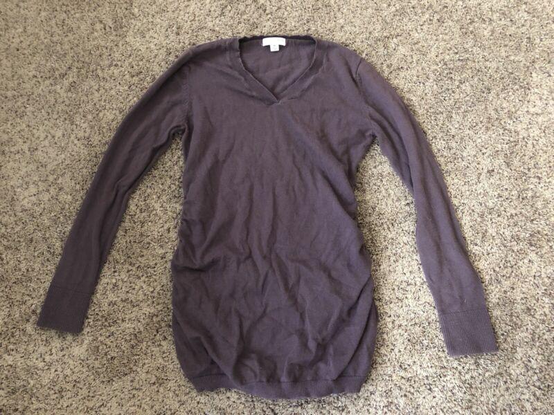 Liz Lange Maternity Sweater Top Medium With Side ruching.