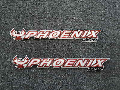 "PAIR  PHOENIX boats 8"" DECALS  bass fishing"