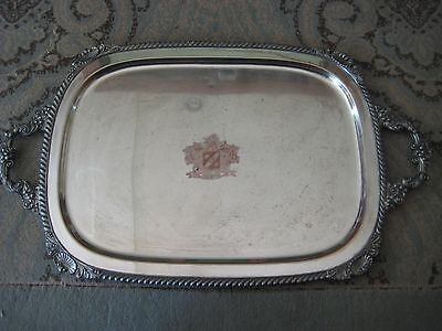 Vintage English Silver Co  Silver On Copper  Spero  Serving Tray With Handle