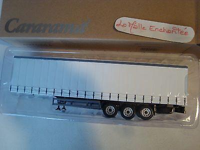Miniature Trailer Semi Trailer 3 Axles White Doorman 1/50 Cr -
