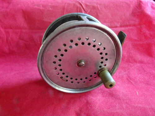 """A RARE VINTAGE 4 1/8"""" CALIPER/CLAW CHECK FARLOW SALMON FLY REEL"""