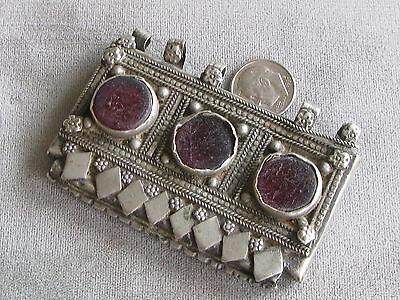 Antique Silver Glass Muslim Prayer Box Pendant Yemen?