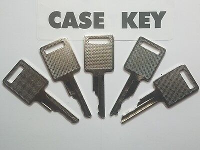 5 Case And Bobcat Heavy Equipment Keys For Backhoe Skid Steer Equipment