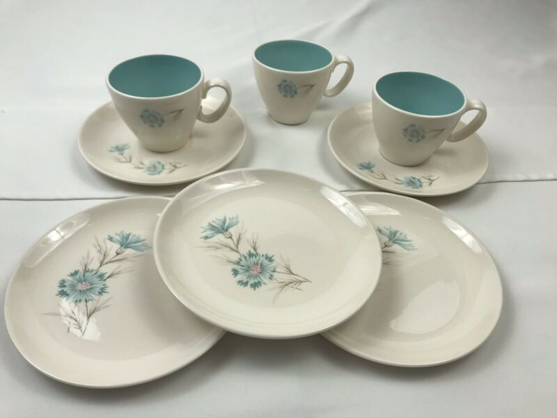 Lot of 8 taylor smith taylor ever yours boutonniere cups saucers dessert plates