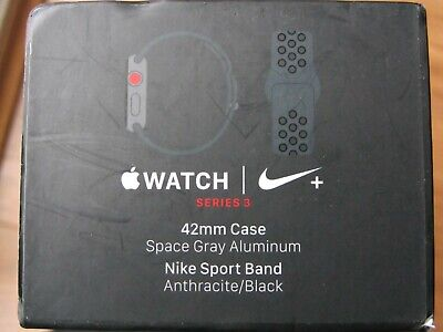 APPLE WATCH SERIES 3 NIKE+ 42MM SPACE GREY ALUMINUM CASE (GPS & CELLULAR)