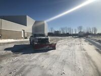 Snow removal driveways or parking lots