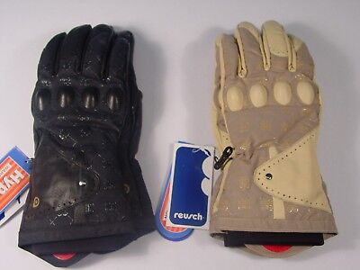 Protective Snowboard Gloves - New Reusch Snowboard Gloves Knuckle Protection Leather Palms Medium #2692315