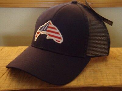 baa1b9aecff02 Simms Fishing Products USA Patch Admiral Blue Trucker Hat