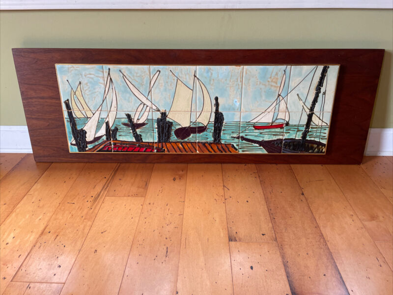Large Harris G Strong MCM Tile On Wood Picture