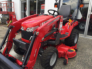 2016 Massey Ferguson GC1705 4WD Tractor, Loader & Mower