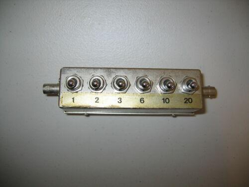 Alan model 75TA42 6 switch RF INDUSTRIES Attenuator BNC Switched