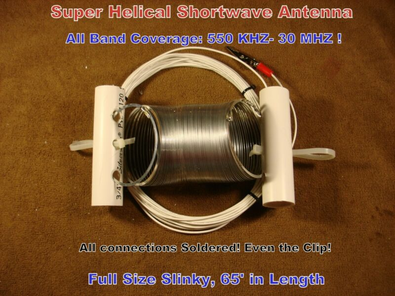 SUPER HELICAL SWL SHORTWAVE ANTENNA! All Band! Stretch & Play!
