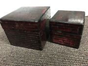 Red trinket boxes x2 Southport Gold Coast City Preview