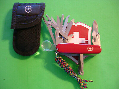 NTSA SWISS ARMY VICTORINOX MULTIFUNTION POCKET KNIFE RED SWISS CHAMP W/CASE