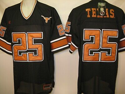 Texas Longhorns #25 Mens XL Black Colosseum Twill Football (Twill Football Jersey)