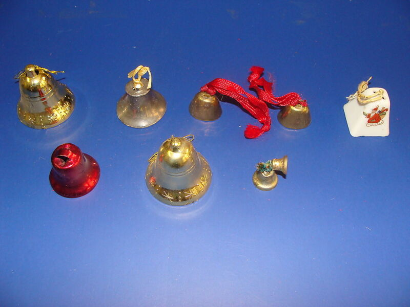 (Lot of 8) Vintage Christmas Bells