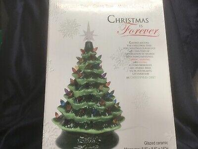 "16"" CERAMIC LIGHT UP CHRISTMAS TREE multicolor lights HOLIDAY SPIRIT new in box!"