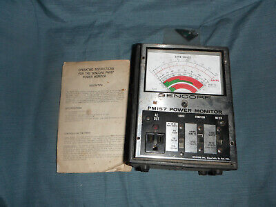 Sencore Pm157 Ac Line Power Monitor Meter For Parts
