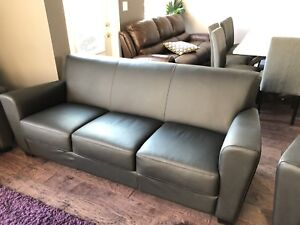 Leather Sofa and Matching Chairs (BRAND NEW)