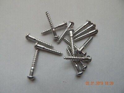 Aluminum Round Head Slotted Wood Screws 10 X 1 14 15 Pcs. New