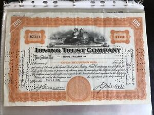 Irving trust company certificates