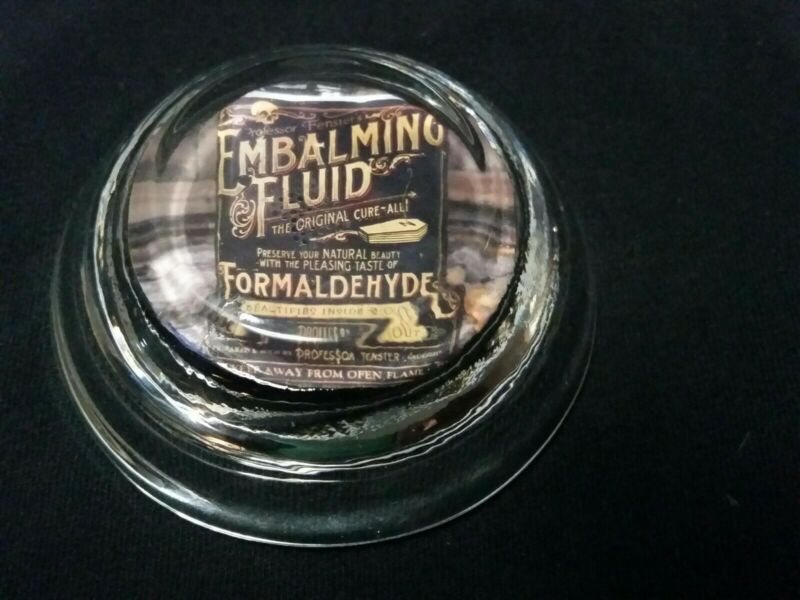 Vintage Style Embalming Fluid Glass Paperweight ..Handcrafted by Artist...Nice