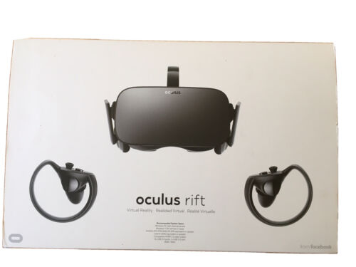 Oculus Rift CV1 W/ 4 Sensors, Wall Mounts, Audio Strap, Extension Cables - $225.00