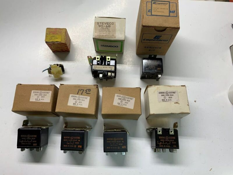 Lot Of 7 Potential Relays General Electric & Steveco 3ARR3