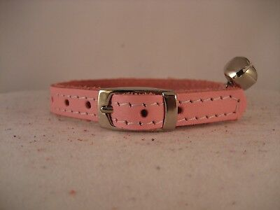 LEATHER PALE PINK CAT COLLAR