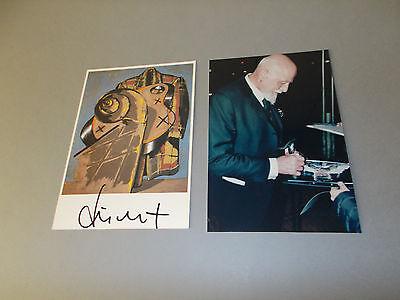 Markus Lüpertz signiert signed autograph Autogramm auf Kunstpostkarte in person