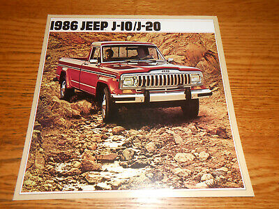 1986 JEEP J-10 J-20 PICKUP TRUCK BIG ORIGINAL BROCHURE / 86 CATALOG Jeep J10 Pickup
