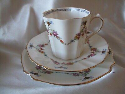 Rosebuds Pattern VintageBone China Tea Strainer High Tea Party TEA BAG STRAINER Tea for One
