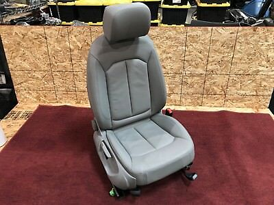 15 18 AUDI A3 S3 8V RIGHT FRONT DRIVER LEATHER SEAT ASSEMBLY GRAY WITH AIRBAG