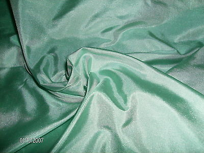 """NEW SMALL SIZE~LIGHT SEAFOAM SILK TISSUE TAFFETA~DOLL FABRIC~9""x22""~MINIATURES"